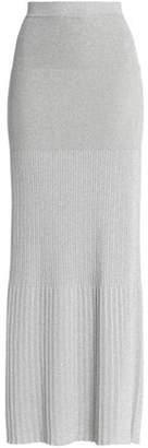 Missoni Pleated Stretch-Knit Lamé Maxi Skirt