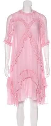 Ulla Johnson Silk Ruffle-Trimmed Dress w/ Tags