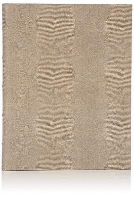 Barneys New York Lizard-Stamped Leather Keepsake Album - Brown