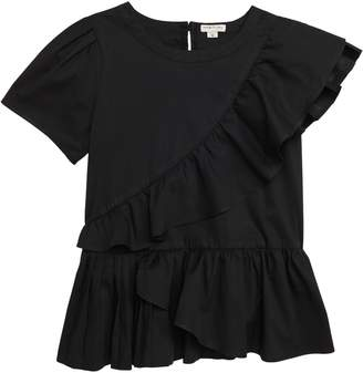 Habitual Amber Asymmetrical Ruffle Top