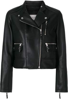 Yves Salomon leather biker jacket