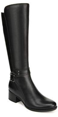 Naturalizer Wide Calf Buckle Knee-Length Leather Boots