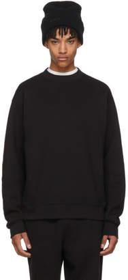 Alexander Wang Black Oversized Crewneck Sweatshirt