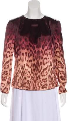 J Brand Animal Print Ombré Blouse