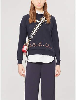 Ted Baker Henreet embellished cotton-jersey sweatshirt