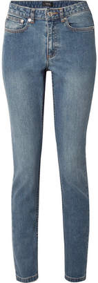 A.P.C. High-rise Straight-leg Jeans - Mid denim