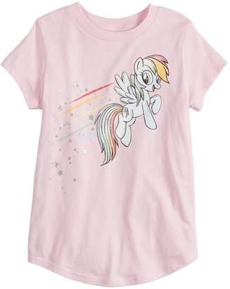 My Little Pony Girls 4-12 Jumping Beans Rainbow Dash Graphic Tee