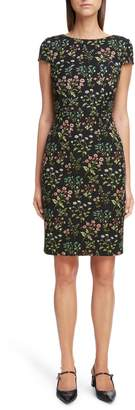 Erdem Floral Stretch Jacquard Dress