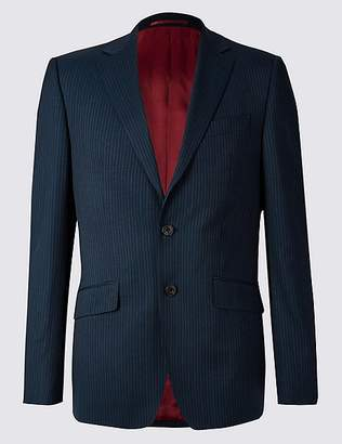 Marks and Spencer Big & Tall Navy Regular Fit Wool Jacket