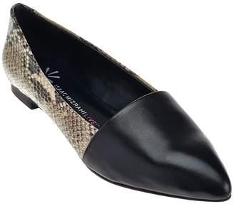 Isaac Mizrahi Live! Leather Pointed Toe Flats