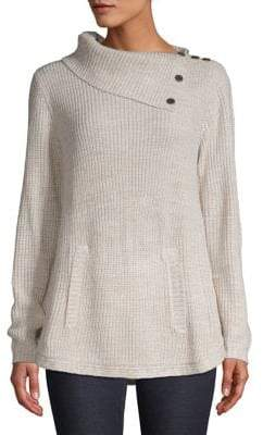 Style&Co. Style & Co. Envelope Neck Button Sweater