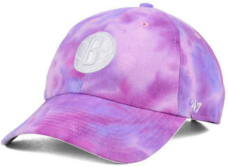 '47 Brooklyn Nets Pink Tie-Dye Clean Up Cap
