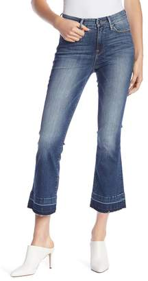 Good American Cropped Flare Leg Jeans