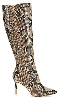 Gianvito Rossi Women's Corrine Knee-High Python Boots