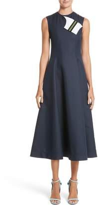 Calvin Klein Cotton & Silk Dress