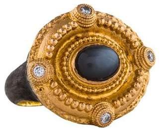 Armenta Moonstone & Diamond Ring