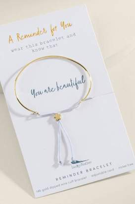 Lucky Feather Beautiful Reminder Bracelet - Gold