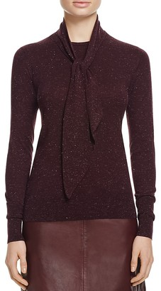 Whistles Annie Sparkle Tie Neck Top - 100% Bloomingdale's Exclusive $210 thestylecure.com