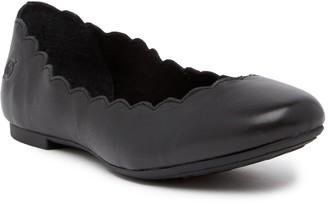 Børn Allie Scalloped Leather Flat
