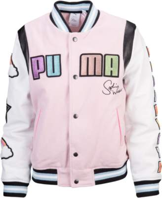 Puma Sophia Webster Leather Varsity Jacket - Women's