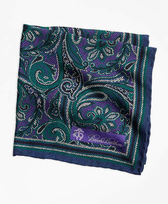 Brooks Brothers Paisley and Dot Pocket Square
