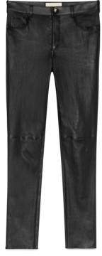Gucci Embroidered leather legging