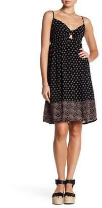 Splendid Twist Knot Printed Dress