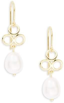 Saks Fifth Avenue Women's 14K Yellow Gold Triple Ring and Pearl Drop Earrings