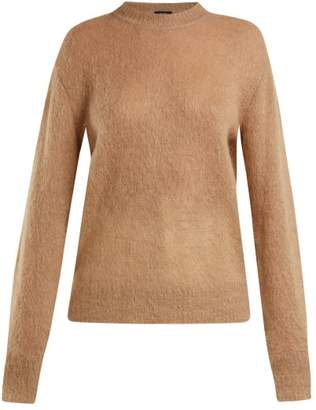 Joseph Brushed Mohair Blend Crew Neck Sweater - Womens - Camel