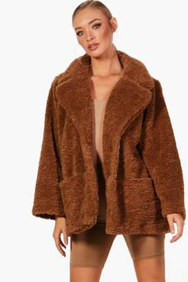 boohoo Molly Teddy Faux Fur Coat