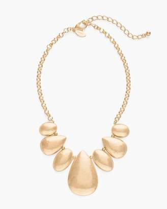 Gold-Tone Domed Bib Necklace