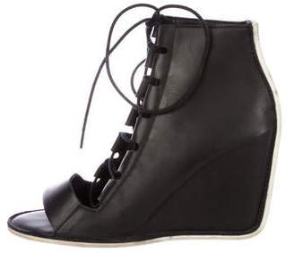 Pierre Hardy Leather Peep-Toe Booties