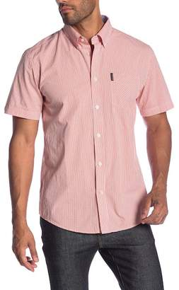 Ben Sherman Short Sleeve Mini Window Check Print Shirt