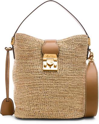 a93152f5fc09 Mark Cross Murphy Raffia Bag in Natural   Luggage