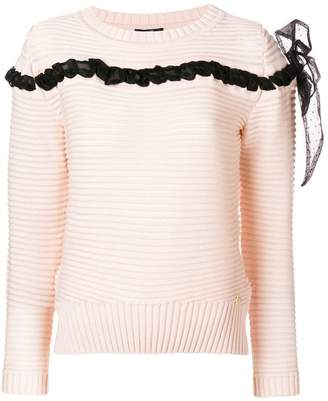 Class Roberto Cavalli bow detail sweater
