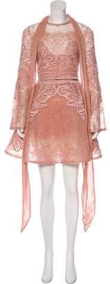 Elie Saab Embellished Cocktail Dress