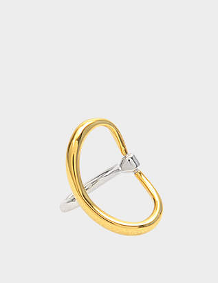 Charlotte Chesnais Turtle Ring in Yellow Vermeil and Silver