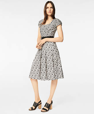 Brooks Brothers Floral Eyelet Cotton Pleated Dress