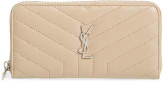 Saint Laurent Loulou Matelasse Leather Zip-Around Wallet