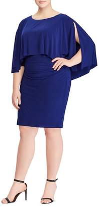 Lauren Ralph Lauren Abriella Cape Sheath Dress
