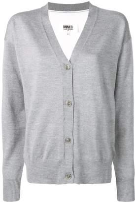MM6 MAISON MARGIELA two-tone knitted cardigan