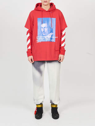 Off-White Off White Bernini print hooded tee shirt