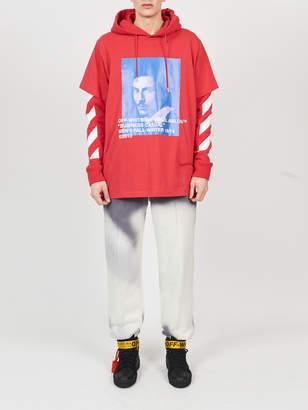 Off-White Off White Bernini print hooded tee shirt