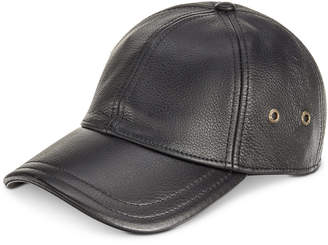 Dorfman Pacific Stetson Men's Leather Baseball Cap