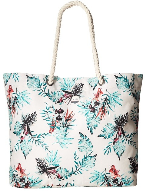 Roxy - Printed Tropical Vibe Beach Tote Tote Handbags