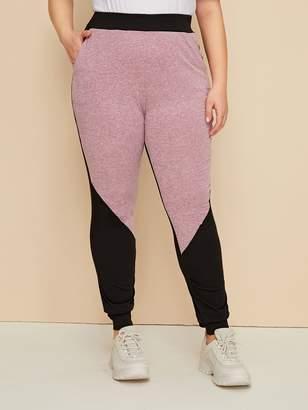 Shein Plus Cut And Sew Sweatpants