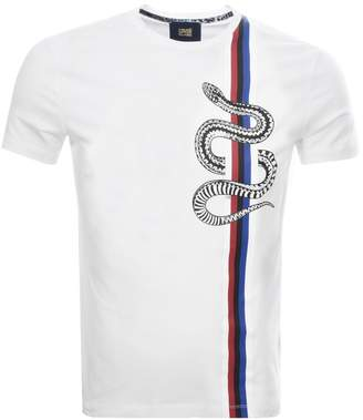 Just Cavalli Cavalli Class Snake Stripe T Shirt White
