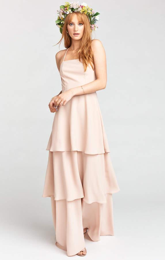 Show Me Your Mumu Calypso Ruffle Dress ~ Dusty Blush Crisp