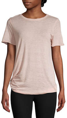 Andrew Marc PERFORMANCE Knot Front T-Shirt