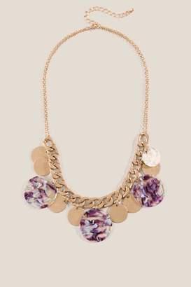 francesca's Khloe Multi-Circle Chain Necklace - Purple